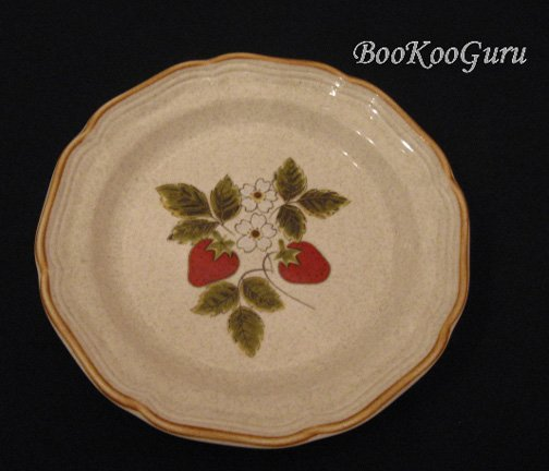Mikasa STRAWBERRY FESTIVAL Salad Plate, Mikasa Pottery,Perfect Condition