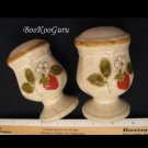 Mikasa STRAWBERRY FESTIVAL Salt & Pepper Shakers, Set, Mikasa Pottery, Very Good