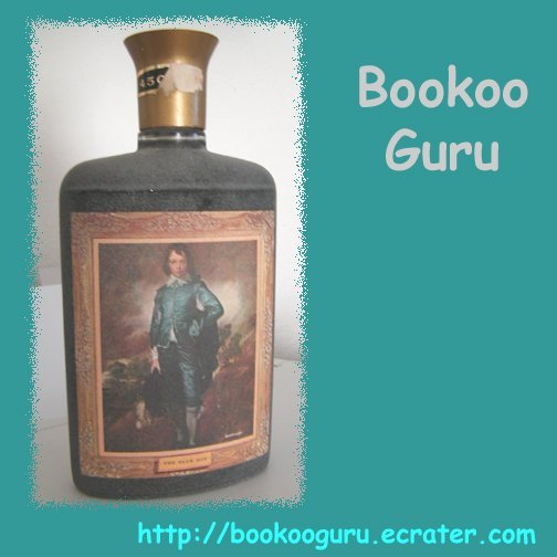 The Blue Boy, Gainsborough Famous Painting on whiskey bottle, Vintage Barware