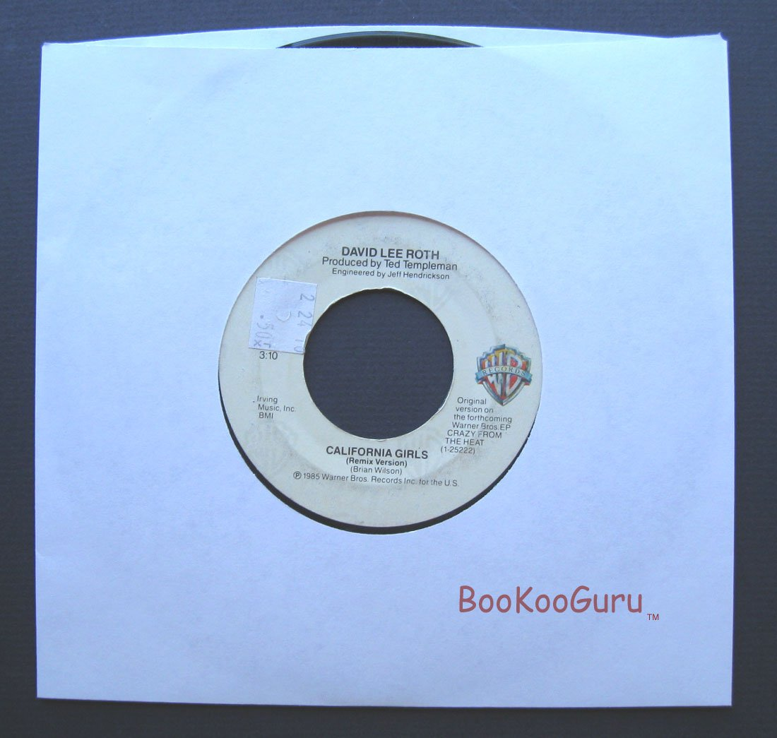 David Lee Roth,WB 45 RPM, California Girls, (Remix), 45 Record