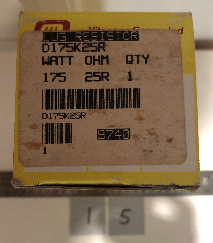 Ohmite Vitreous Enameled Lug Resistor D175K25R 175 Watt 25R Ohm