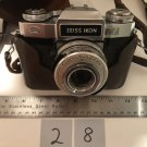 Zeiss Ikon 35mm Contaflex Synchro-Compur 2.8 50mm w Leather Case