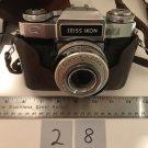 Zeiss Ikon 35mm Contaflex Synchro-Compur 2.8 50mm w Leather Case