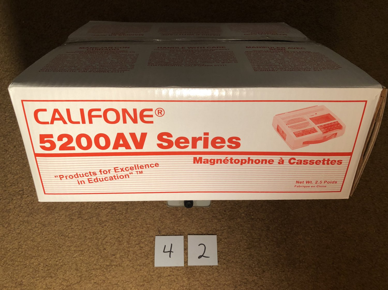 Califone Cassette Recorder 5200AV SERIES Magnetophone A Cassettes #42