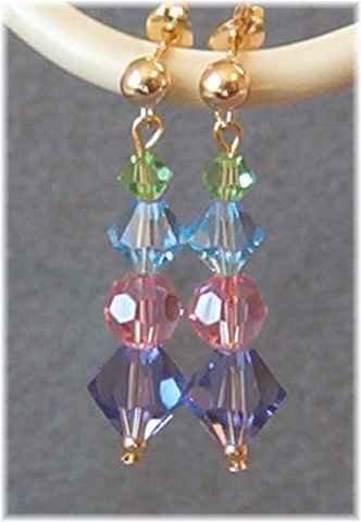 Springtime in Crystal - Swarovski Crystal Earrings in Pastels