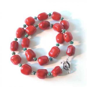 Chunky Coral & Turquoise Necklace