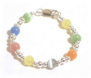 Baby Cat's Eye and Sterling Silver Bracelet
