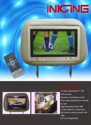 Car Headrest LCD Monitor CM01-02