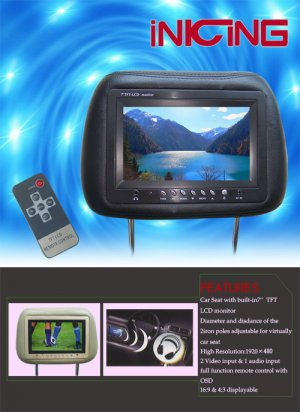 Car Headrest LCD Monitor  CM01-04.