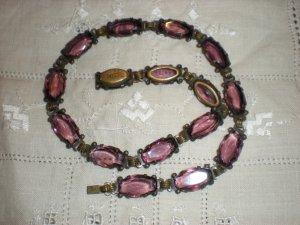 Czecho Amethyst Stone Necklace