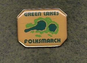 Green Lakes YMCA Folksmarch Lapel Pin