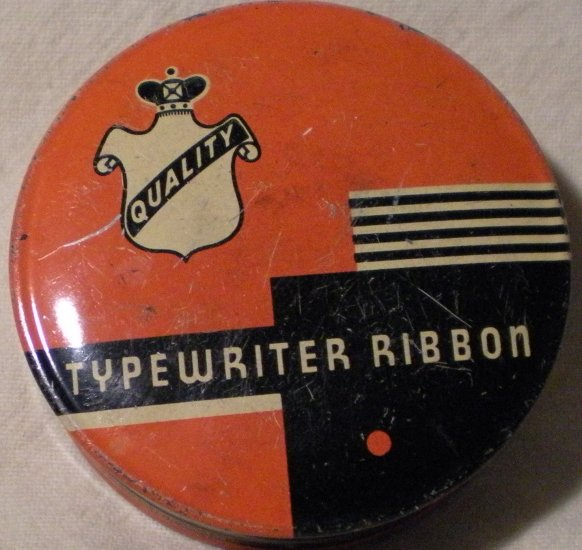 Tin Quality Typewriter Ribbon Case