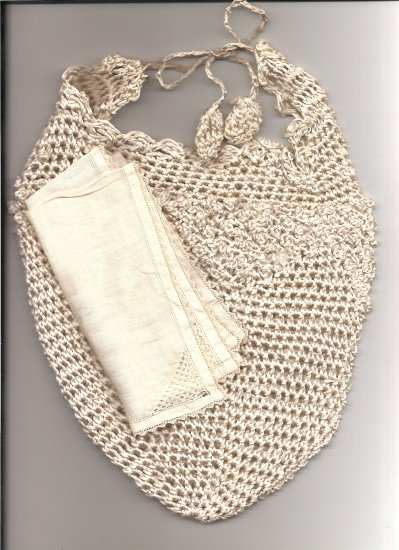 Victorian Lame' Hand Crocheted Reticule