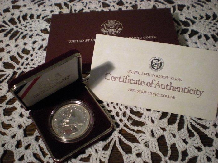 1988 Silver Dollar Olympic Coin