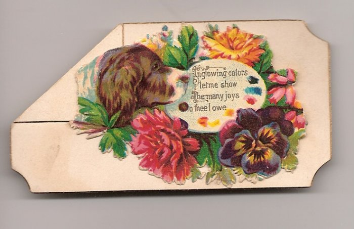 Victorian Calling Cards - With Dog