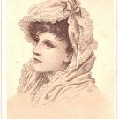 Victorian Calling Cards - Beautiful Young Woman