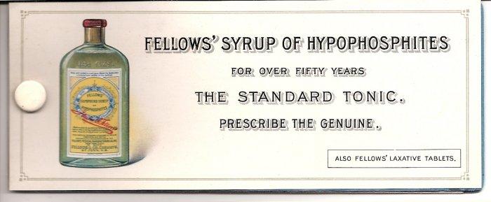 1920s Fellows' Syrup of Hypophosphites Mini Desk Blotter