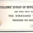 1920s Fellows' Syrup of Hypophosphites Mini Desk Blotter