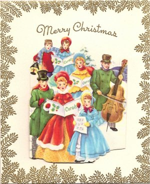 1940s Fold-out Christmas Greeting