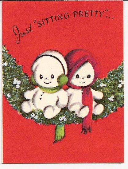 1940s  Christmas Greeting -Grouping of 4