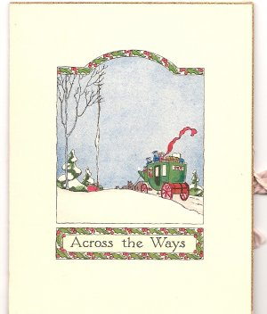 1920s - 1930s Tiny  Christmas Greeting -Grouping of 4