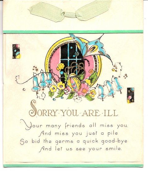 1930s Sorry You Are Ill