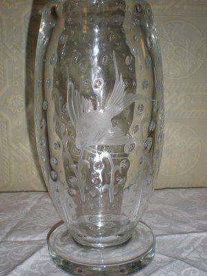 Art Deco Bubble Glass Vase
