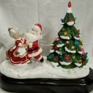 Vintage Santa & Mrs. Clause Rockin' Round the Christmas Tree ca. 1980s