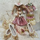 "Victorian Girl ""Wardrobe"" Collection 6 Christmas Ornaments"