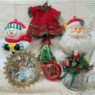 Interesting Collection Plastics and Textile Vintage Ornaments 1940s - 1960s