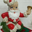 Vintage Atlantic Mold Ceramic Santa Claus Ringing Bell 1950s - 1960s