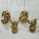 Vintage Gold  Resin Musical Angel Christmas Ornaments