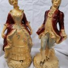 Beautiful Chalk Ware Early American Couple Figurines