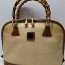 RARE Authentic Dooney And Bourke Panama Satchel  - Croco/Alligator Trimmed