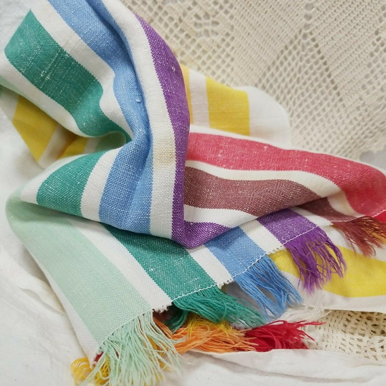 Vintage Fabulous Fiesta/Rainbow Towel