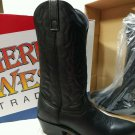 1990's American West Black Leather Cowboy Boots Size 9.5 D Style 6691 NEW IN BOX