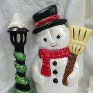 Charming Snowman and Street Light - 1990s