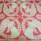 "RARE Hand-Woven Vintage Jacquard ""Cherub Bims"" 1830s to 1840s Coverlet"
