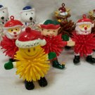 VINTAGE 1970'S VINYL  CHRISTMAS SPIKE BALL FIGURES RETRO - COOL MAN!