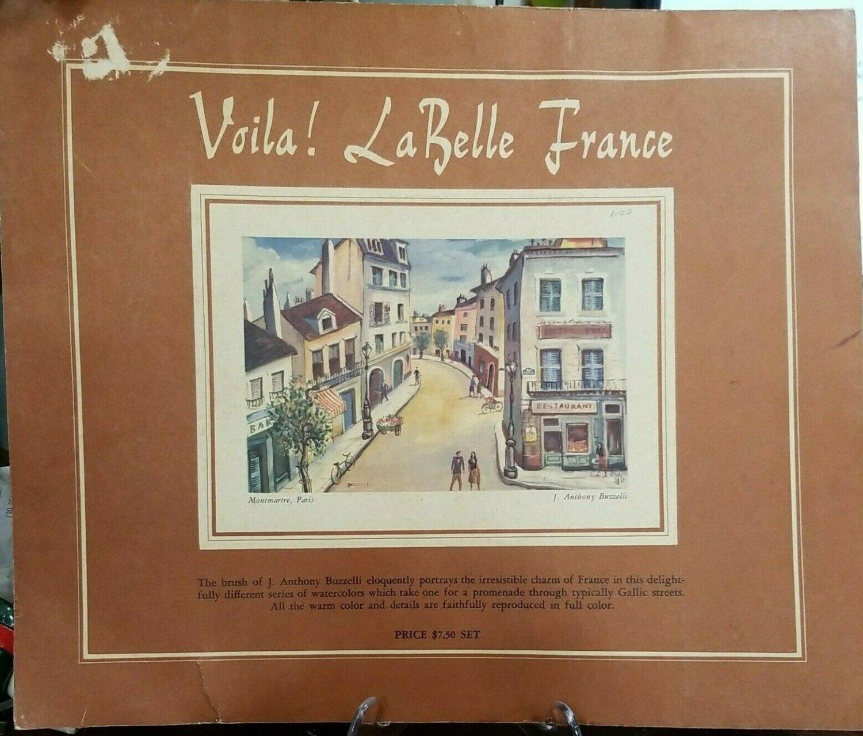 Voila La Belle France J Anthony Buzzelli Portfolio 6 Paris 1953 Art Prints