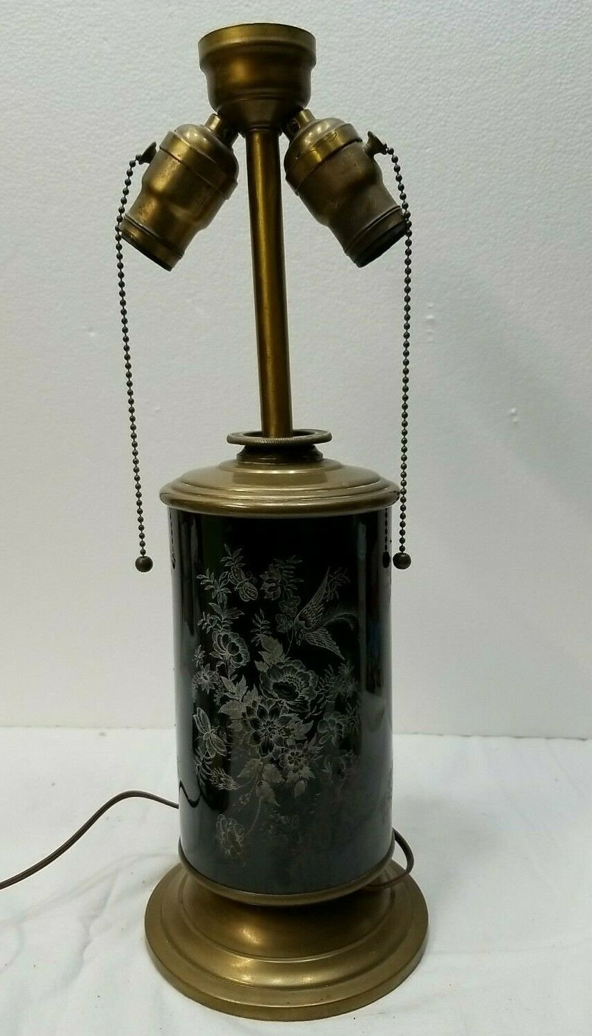 Antique Converted Plume & Atwood Oil Lamp, MUST SEE - UNIQUE