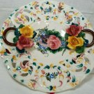 "Vintage CAPODIMONTE Porcelain Floral Plate - Hallmarked ""Italy"" Plate 28 of 100"