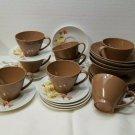 VINTAGE LOT MELAMINE/MELMAC TABLEWARE - 7 LENOX WARE CUPS 1960-1970