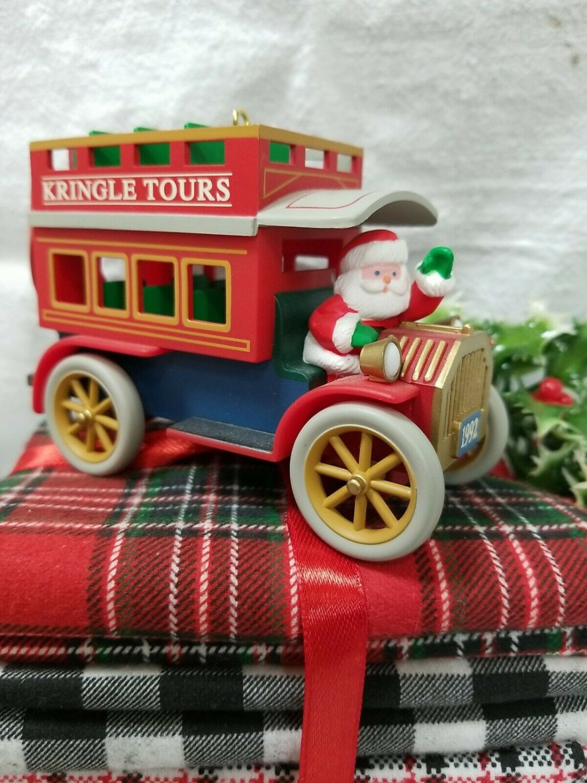 Hallmark 1992 Here Comes Santa 14th Kringle Tours Ornament Bus