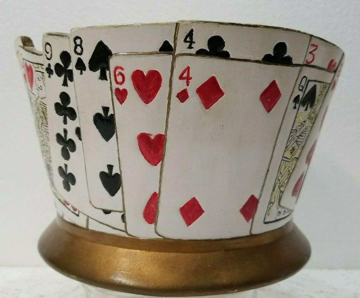 Poker Card or Bridge Card Bowl - Byron Molds 1977