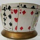 Poker Card or Bridge Card Bowl - Byron Molds 1977
