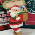 HALLMARK Christmas Ornament 1989 Collector's Club Visit From Santa Personalized