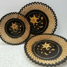 Vintage Wooden Lattice - Fretwork Plates 1940's -1960s