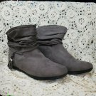 "Arizona Jean Co ""Kelly"" Suede Boots Grey, Size 8W"