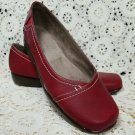 Aerosoles Stitch N Turn Richmond Slip On Ballet Flat Shoes ~ Size 8M - RED